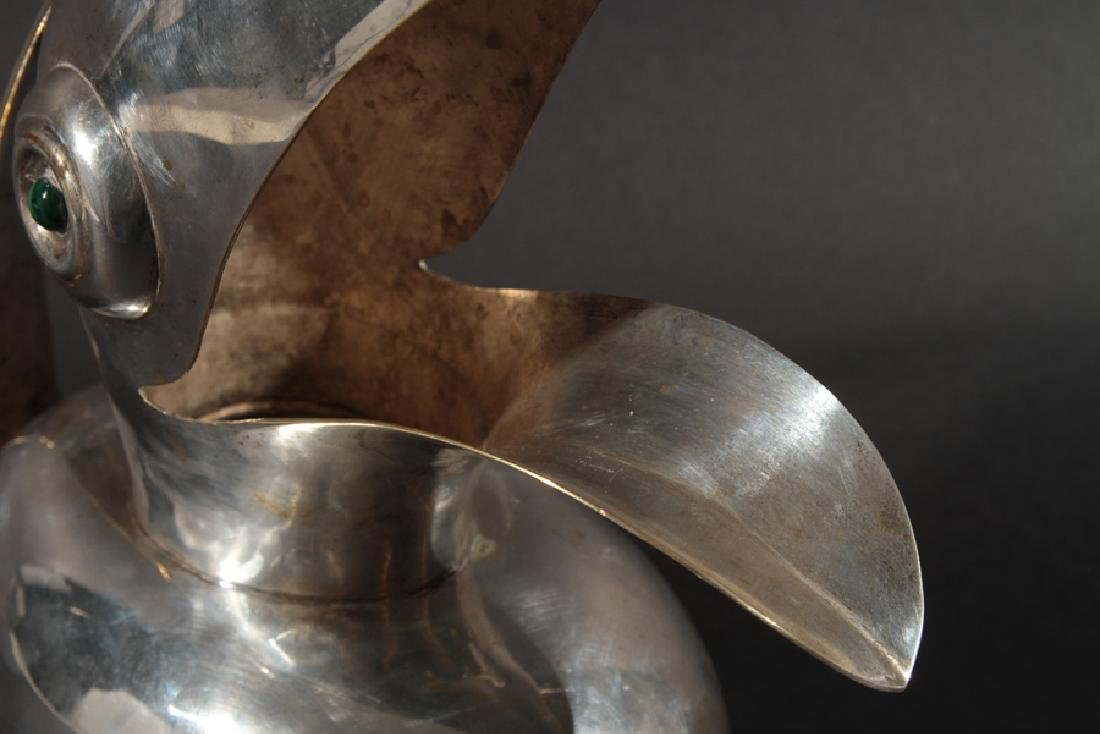 MEXICAN SILVER PLATED TOUCAN LOS CASTILLO C.1950 - 5