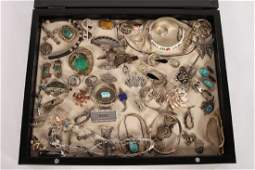 59 STERLING SILVER JEWELRY ITEMS C.1960