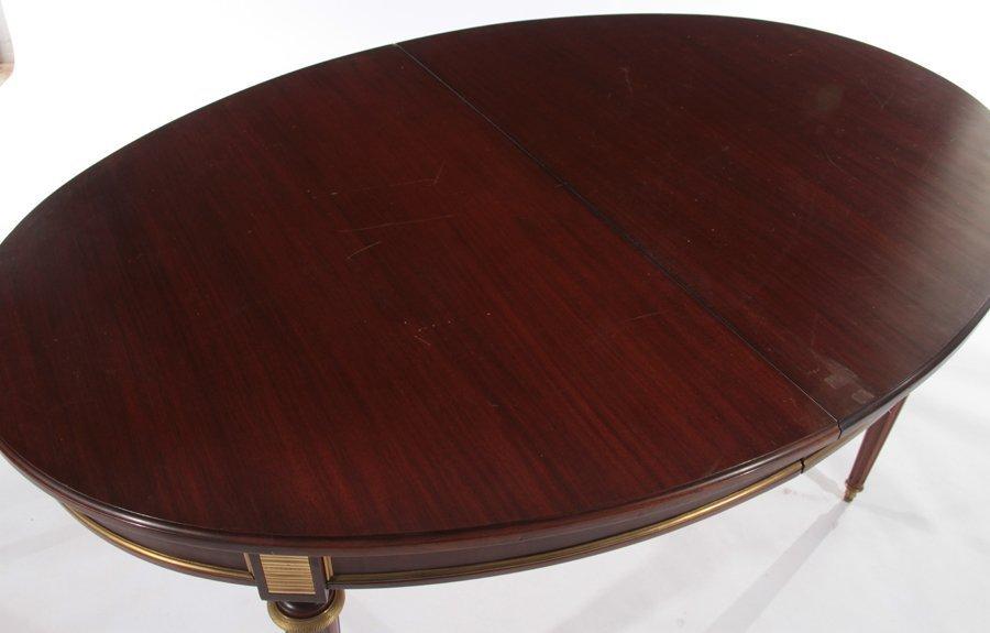 FRENCH DIRECTOIRE MAHOGANY DINING TABLE 1940 - 3