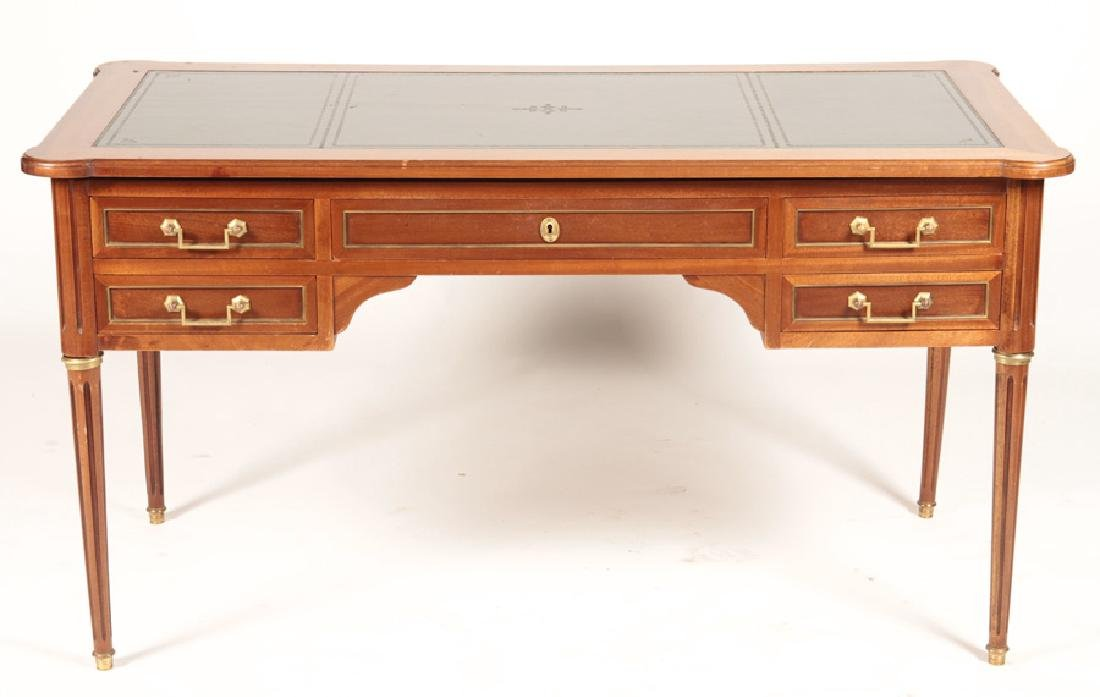 FRENCH LOUIS XVI WRITING DESK LEATHER TOP 1950