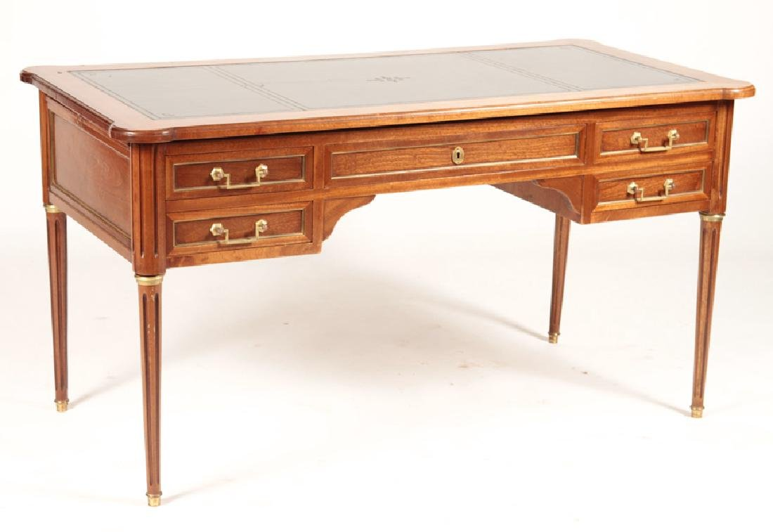 FRENCH LOUIS XVI WRITING DESK LEATHER TOP 1950 - 2