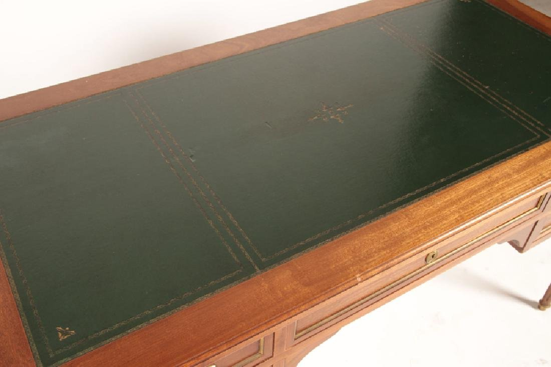 FRENCH LOUIS XVI WRITING DESK LEATHER TOP 1950 - 3
