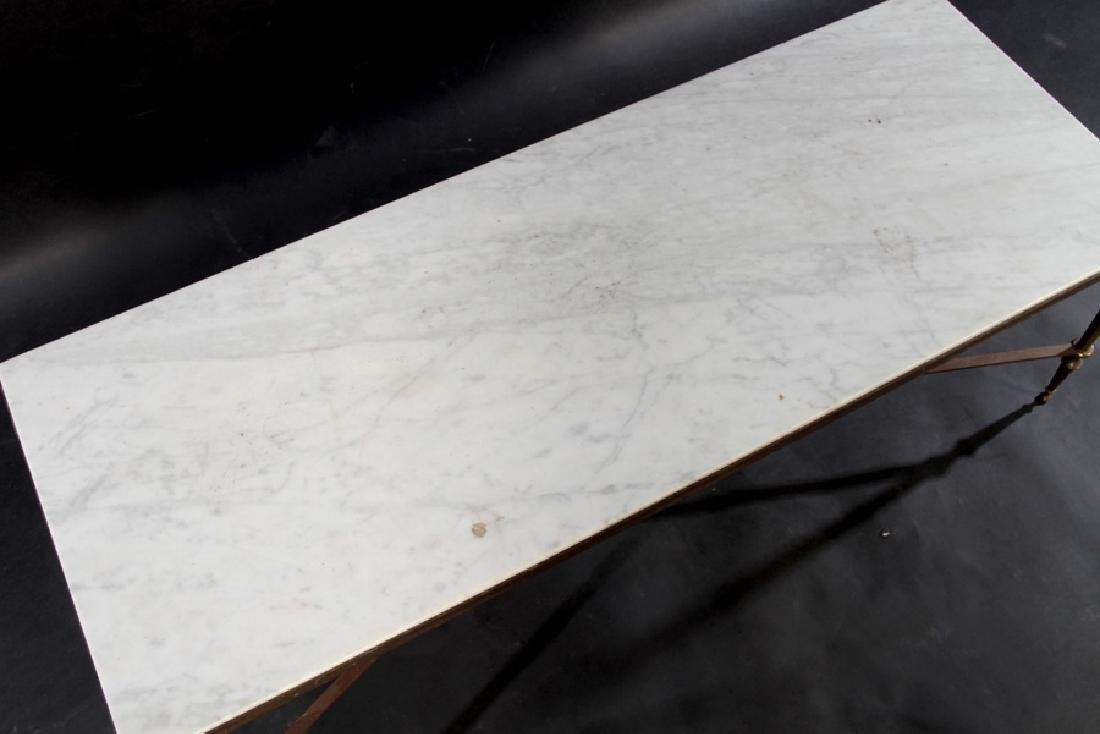 NEOCLASSICAL BRONZE COFFEE TABLE MARBLE TOP 1940 - 3
