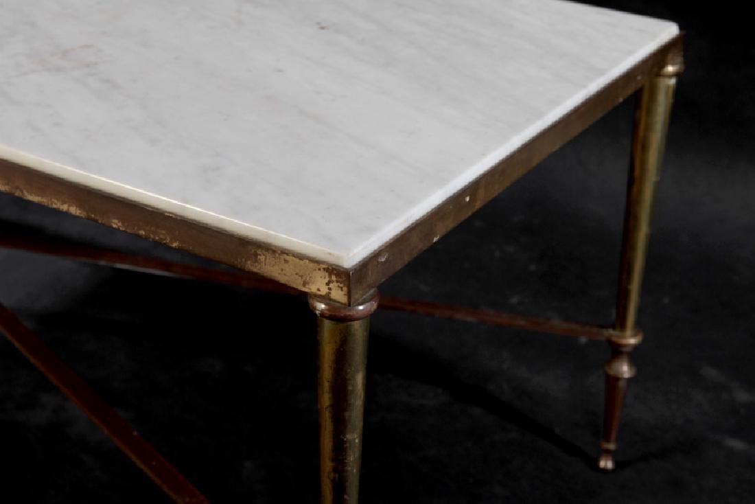 NEOCLASSICAL BRONZE COFFEE TABLE MARBLE TOP 1940 - 4