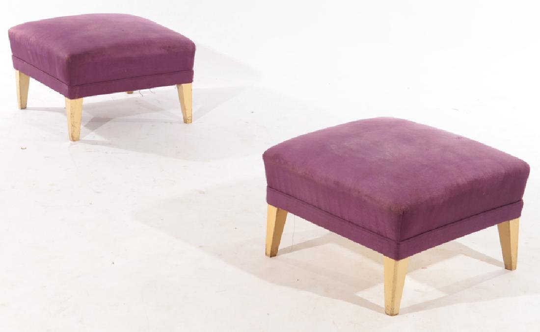 PAIR FRENCH MID CENTURY MODERN STOOLS 1940