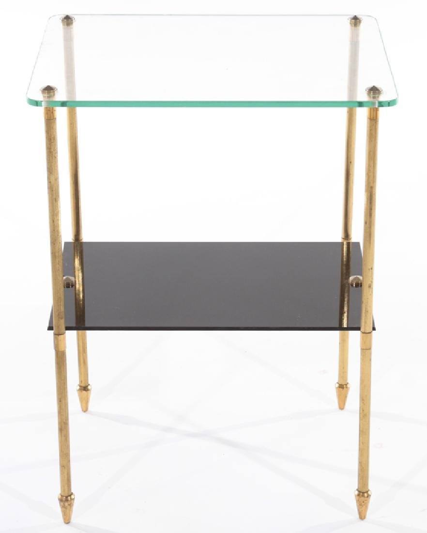 FRENCH SIDE TABLE WITH GLASS TOP 1960 - 2