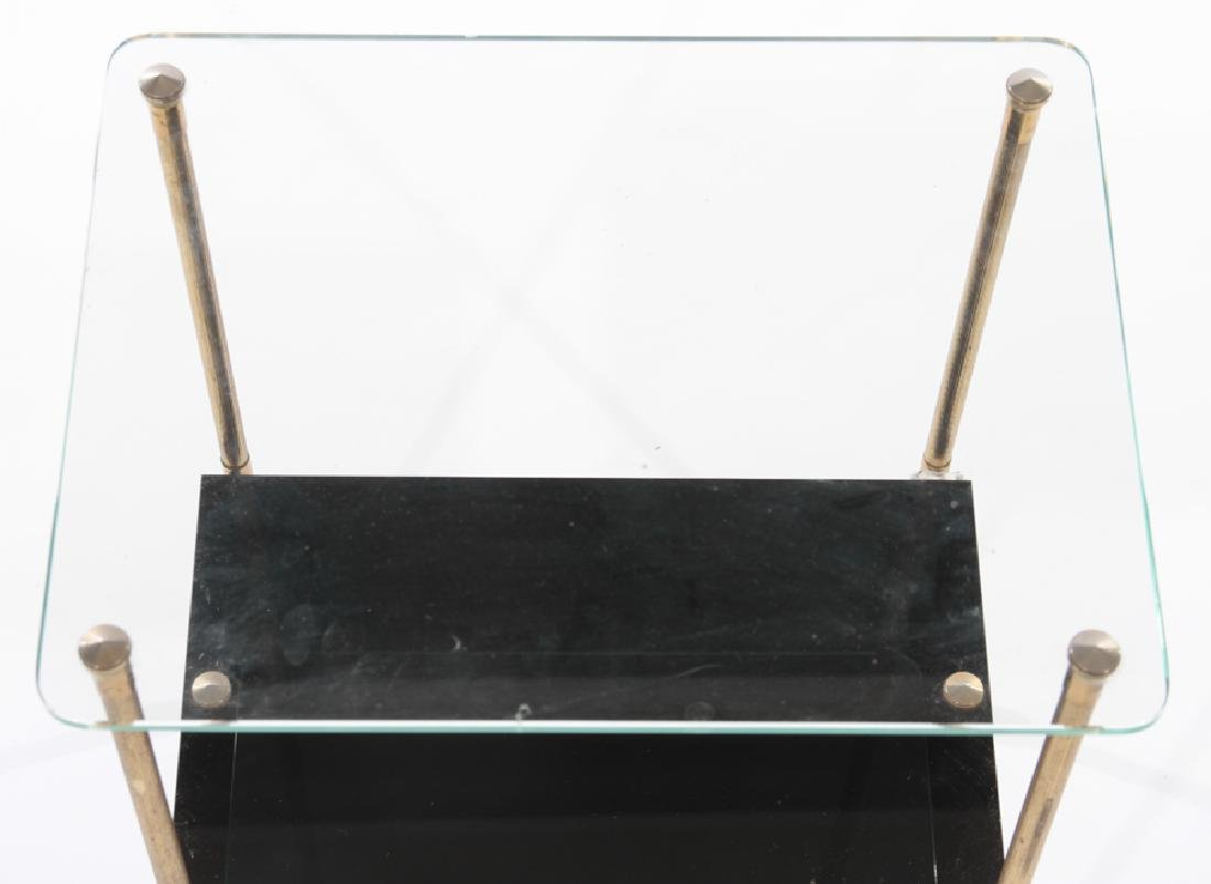 FRENCH SIDE TABLE WITH GLASS TOP 1960 - 3