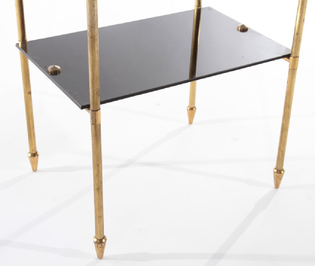 FRENCH SIDE TABLE WITH GLASS TOP 1960 - 4