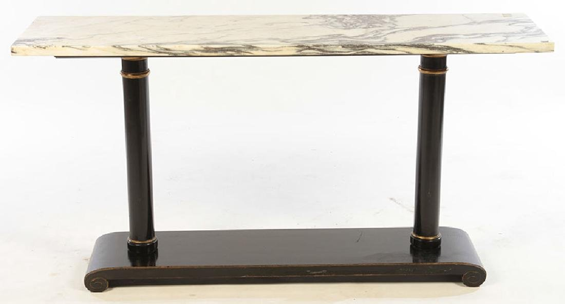 ITALIAN MARBLE TOP CONSOLE TABLE 1960