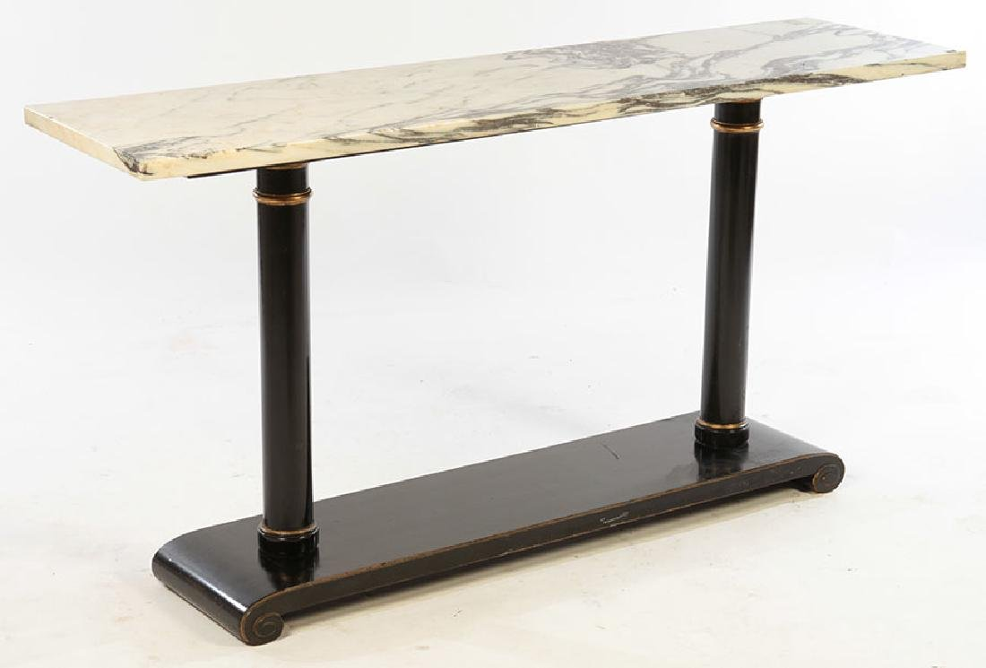 ITALIAN MARBLE TOP CONSOLE TABLE 1960 - 2
