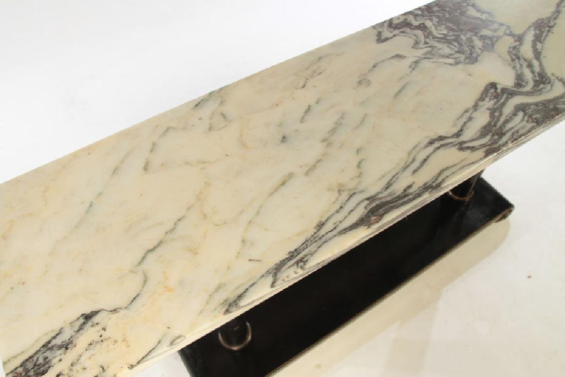 ITALIAN MARBLE TOP CONSOLE TABLE 1960 - 3