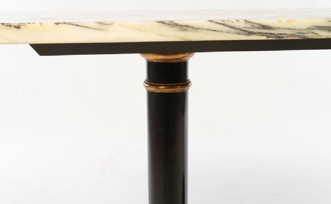 ITALIAN MARBLE TOP CONSOLE TABLE 1960 - 4