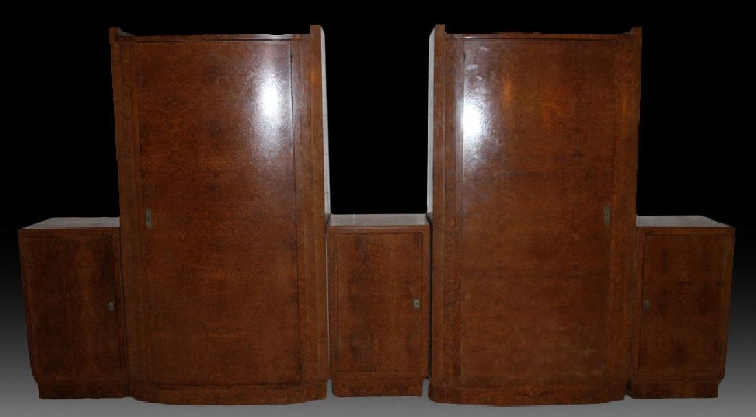 LABELED ART DECO 5 PC DRESSING CABINET 1930