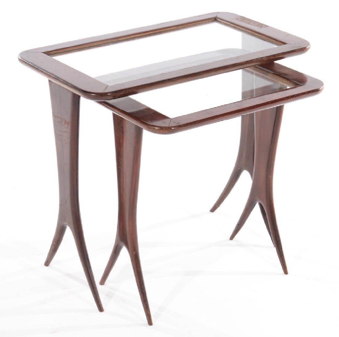 ITALIAN MID CENTURY MODERN NESTING TABLES 1960