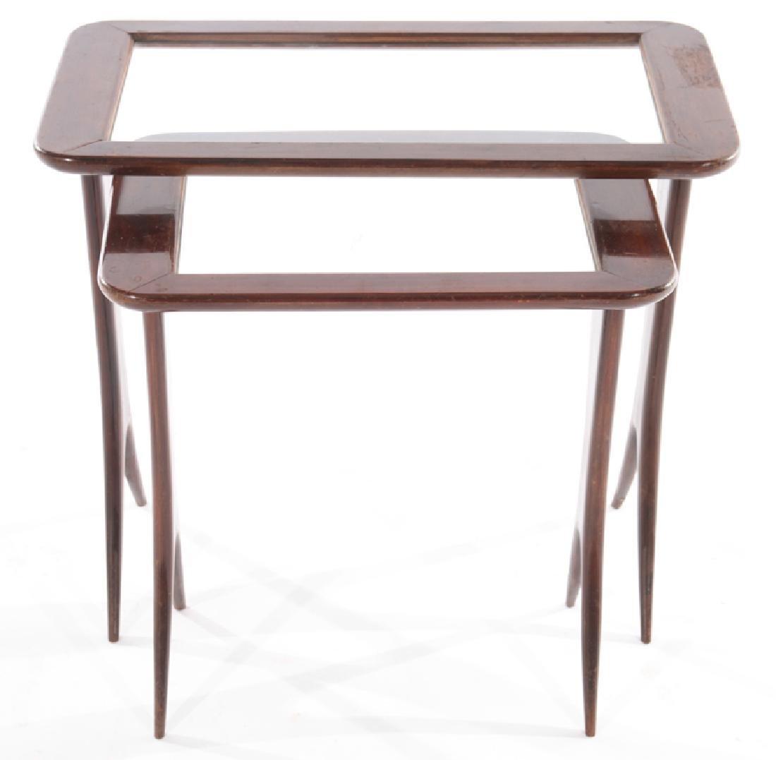 ITALIAN MID CENTURY MODERN NESTING TABLES 1960 - 2