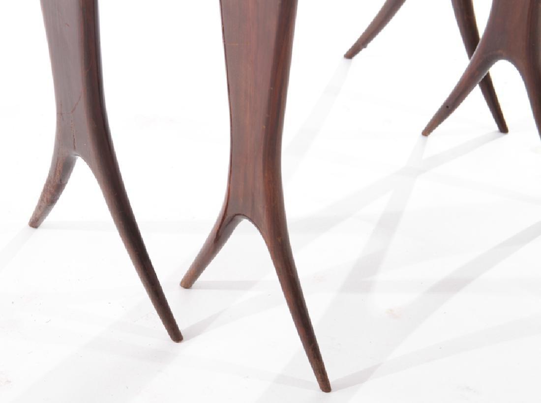 ITALIAN MID CENTURY MODERN NESTING TABLES 1960 - 4