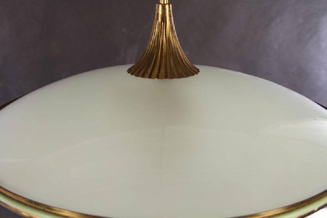 ITALIAN MID CENTURY MODERN GLASS DOMED LIGHT 1960 - 2