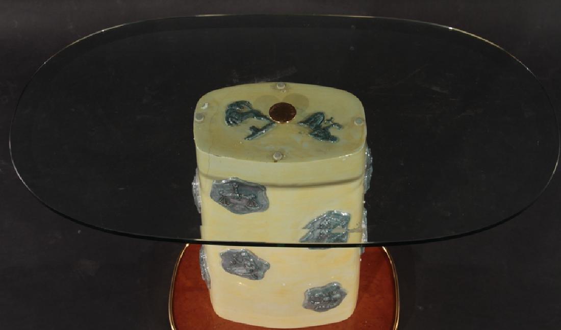 ITALIAN GLAZED POTTERY SIDE TABLE 1960 - 3