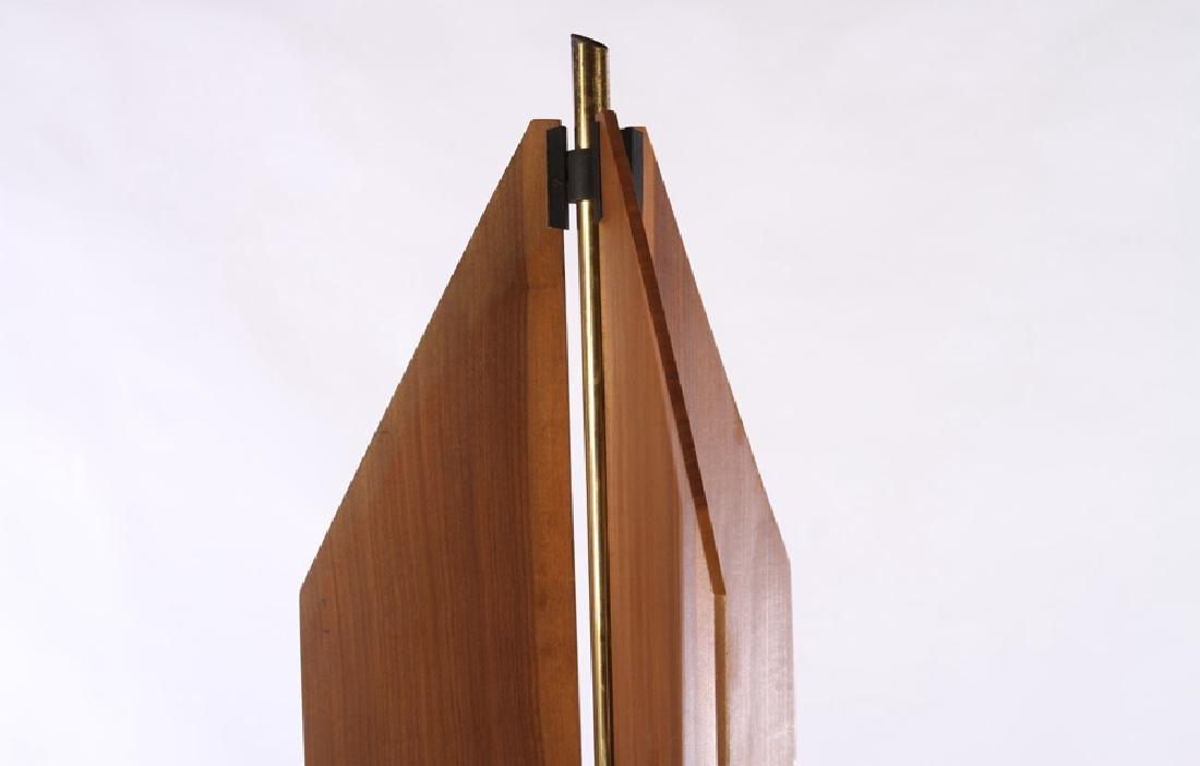 ITALIAN MODERN BRASS IRON 3 LIGHT FLOOR LAMP 1970 - 2