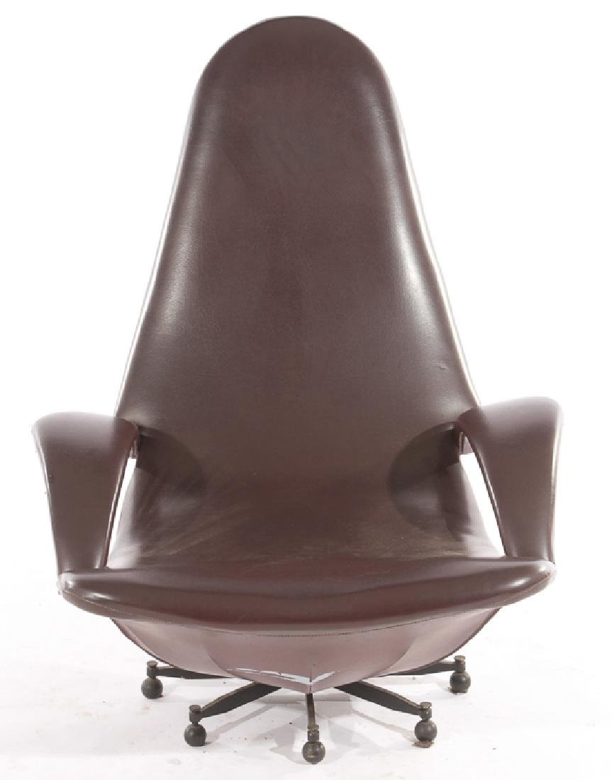 ITALIAN MODERN LOUNGE CHAIR SPIDER FORM BASE 1970 - 2