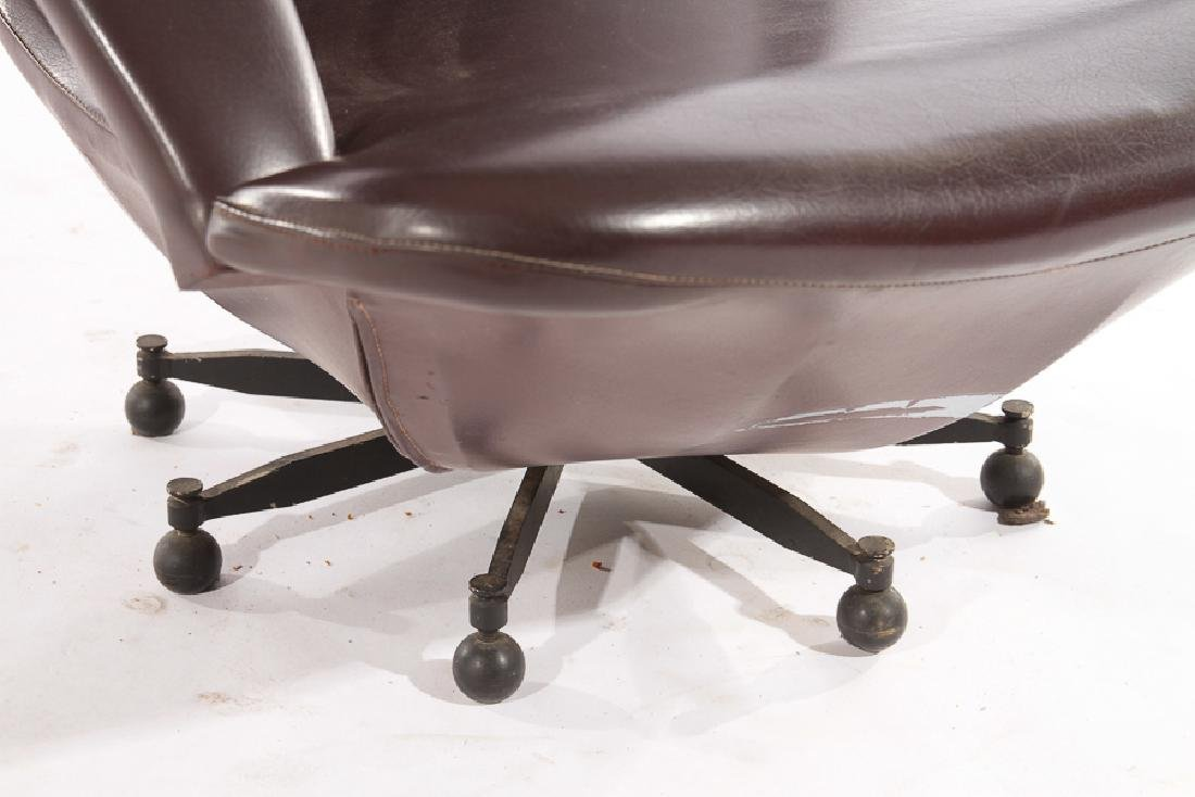 ITALIAN MODERN LOUNGE CHAIR SPIDER FORM BASE 1970 - 4
