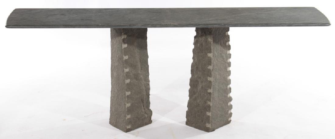 CONTEMPORARY GRANITE AND SLATE CONSOLE TABLE - 2