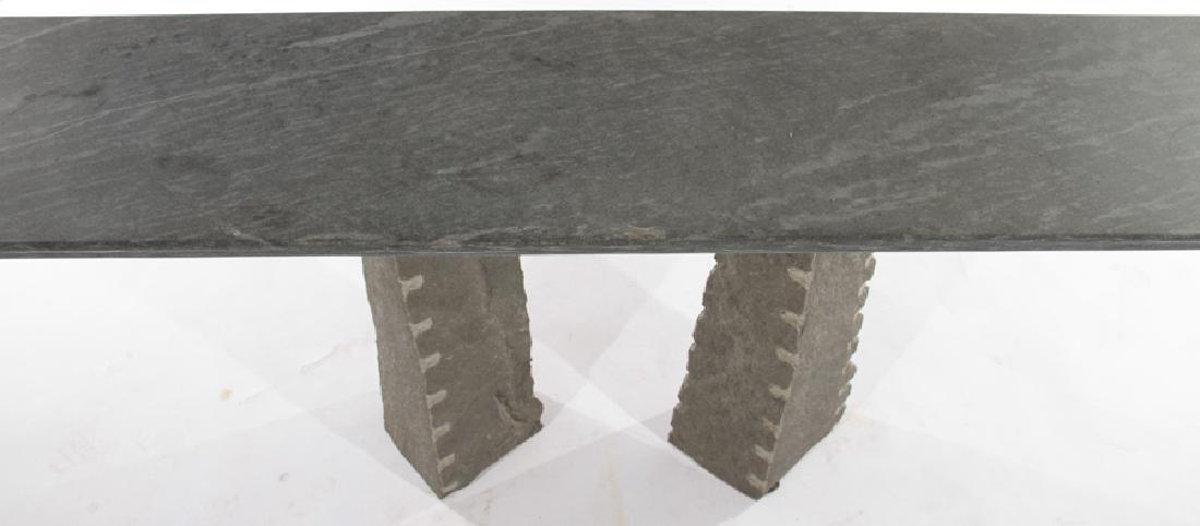 CONTEMPORARY GRANITE AND SLATE CONSOLE TABLE - 3