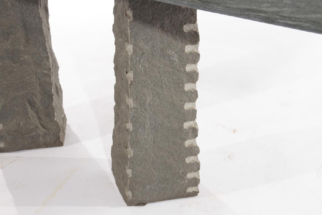 CONTEMPORARY GRANITE AND SLATE CONSOLE TABLE - 4