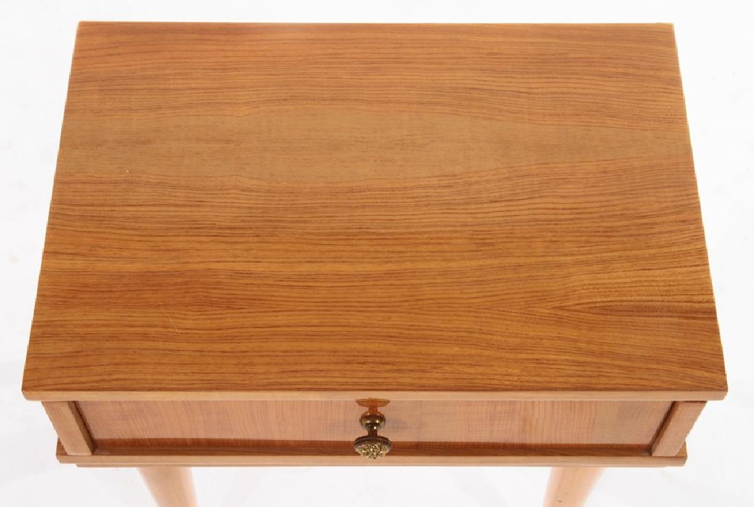 PAIR FRENCH SIDE TABLES SINGE DRAWER - 4