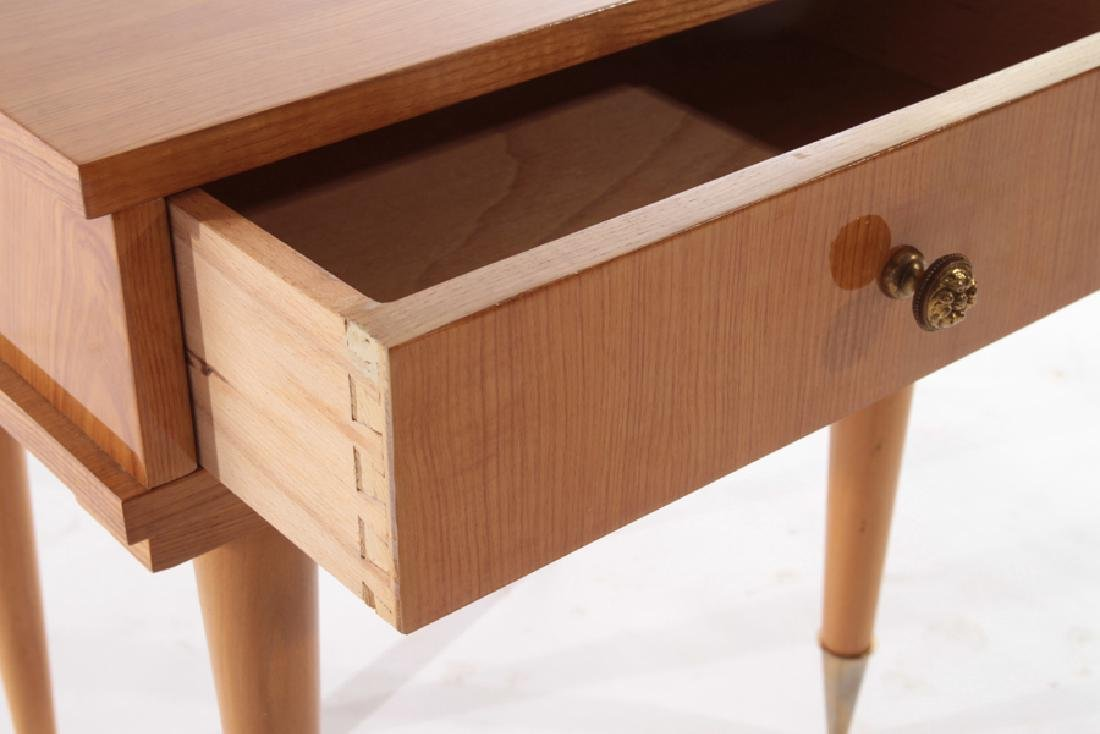 PAIR FRENCH SIDE TABLES SINGE DRAWER - 5
