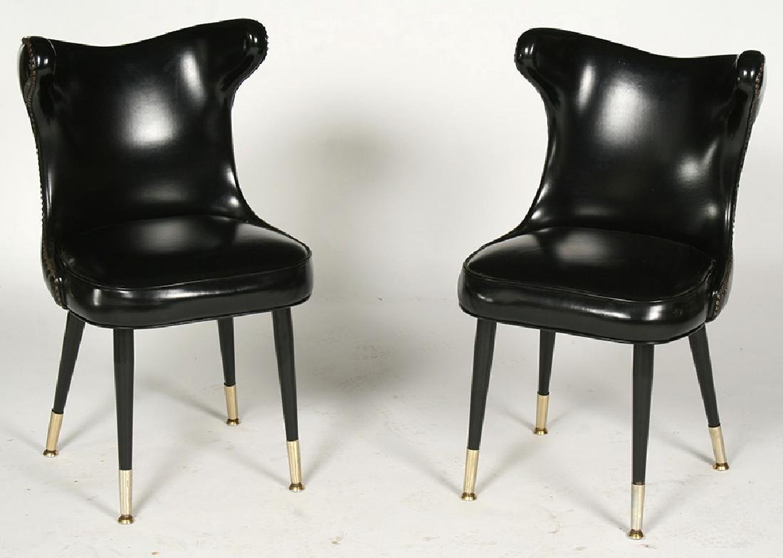 MODERN COCK FIGHTING CHAIRS TUFTED 1960
