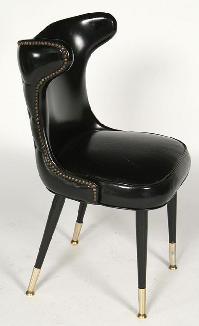 MODERN COCK FIGHTING CHAIRS TUFTED 1960 - 3