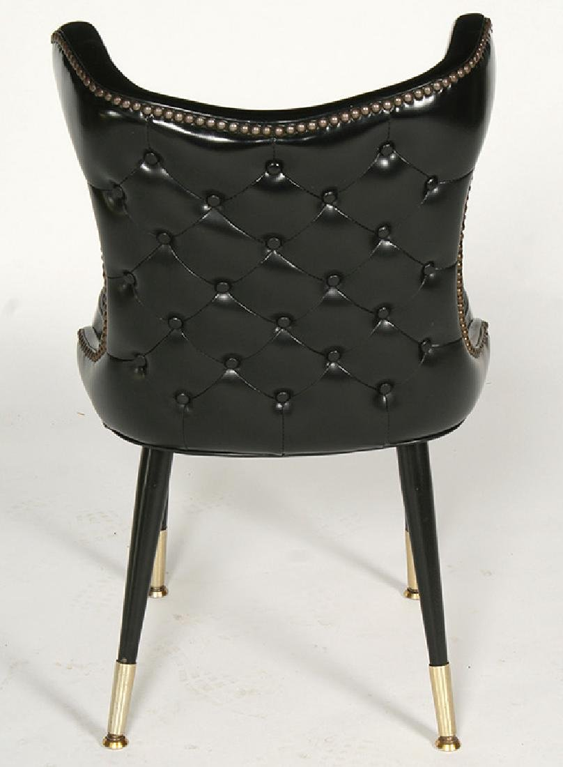 MODERN COCK FIGHTING CHAIRS TUFTED 1960 - 4