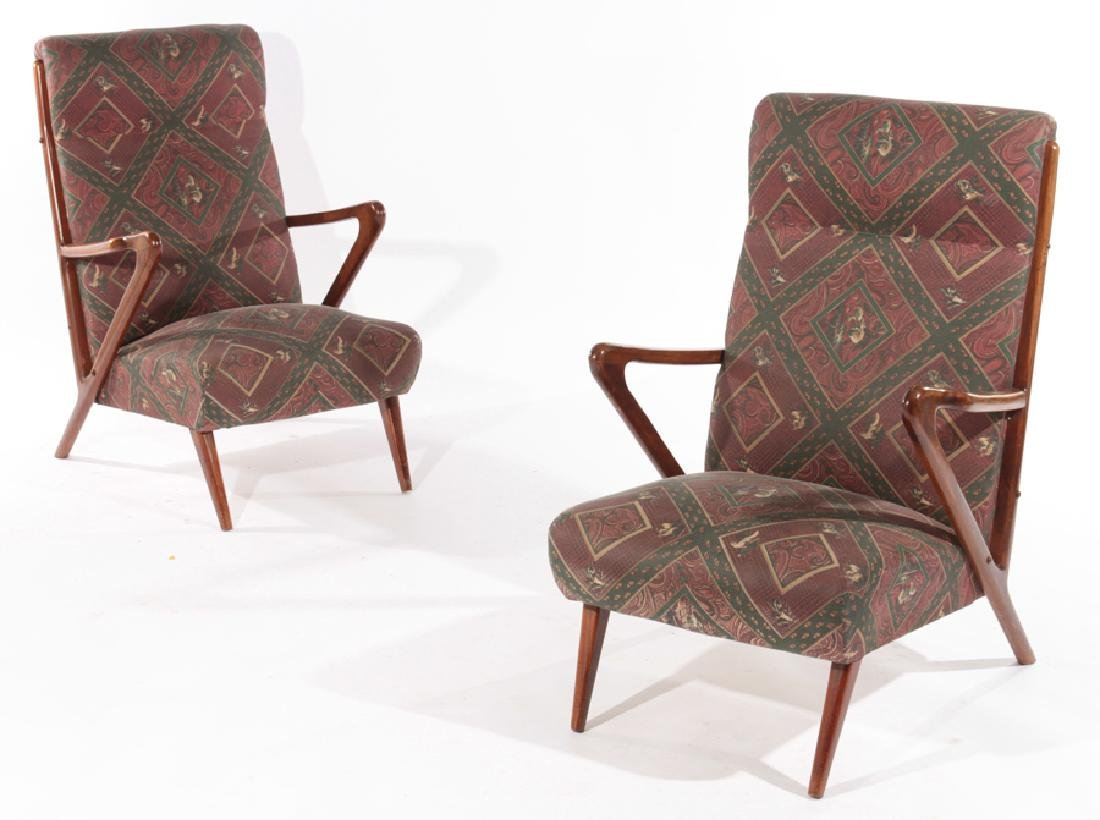 MID CENTURY MODERN LOUNGE CHAIRS KAGAN 1970