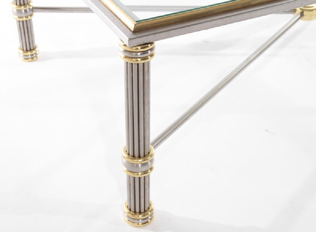 FRENCH MODERN CHROME AND BRONZE COFFEE TABLE - 4
