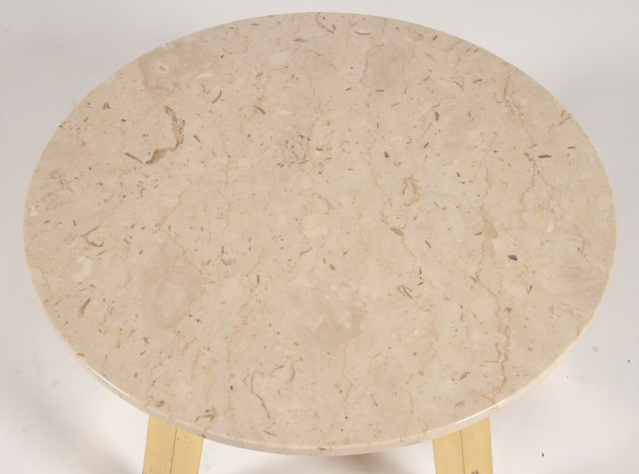 MID CENTURY MODERN COFFEE TABLE WITH STONE C.1970 - 2
