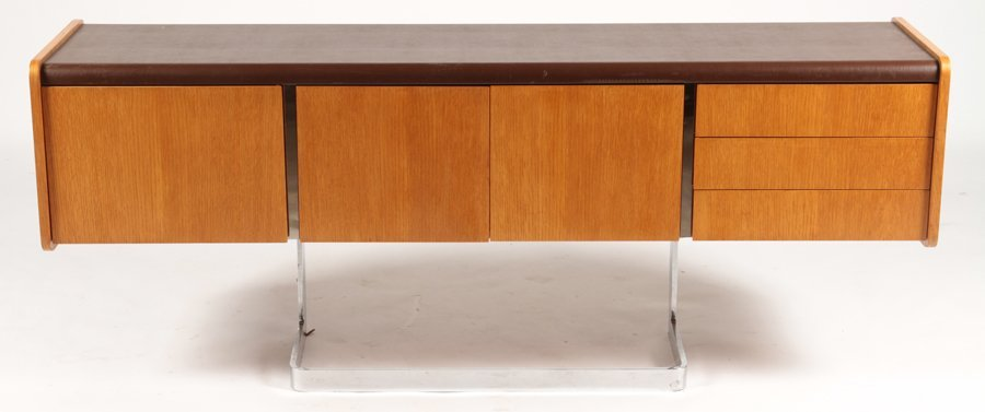 LABELED STE. MARIE & LAURENT MONTREAL CREDENZA