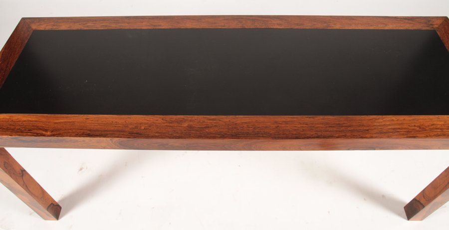 DANISH ROSEWOOD PARSONS CONSOLE EBONIZED TOP - 3
