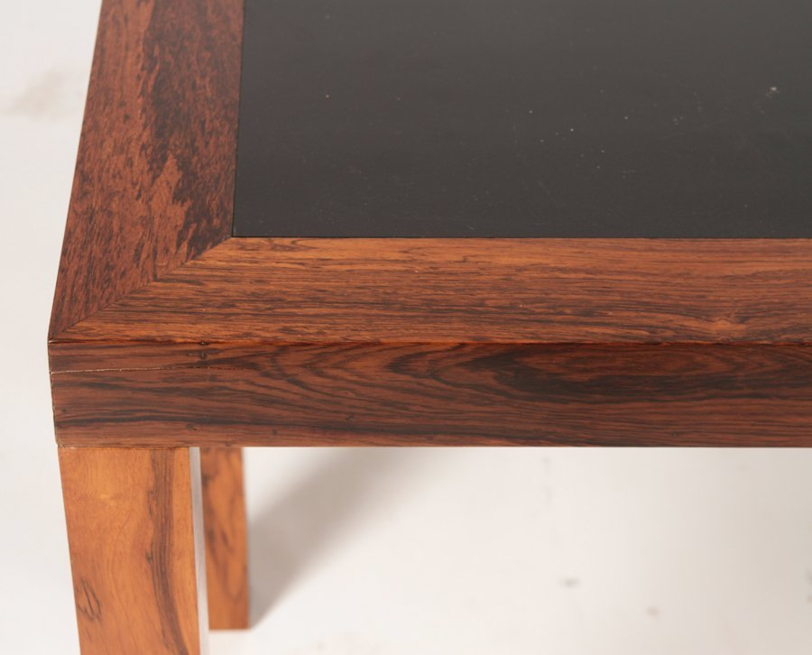DANISH ROSEWOOD PARSONS CONSOLE EBONIZED TOP - 4