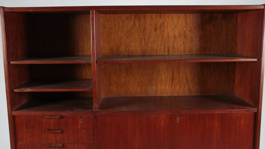 POUL HUNDEVAD TEAK SECRETARY OR DESK 1960 - 2