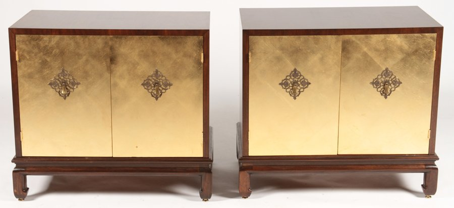 PAIR MID CENTURY MODERN SIDE CABINETS 1960