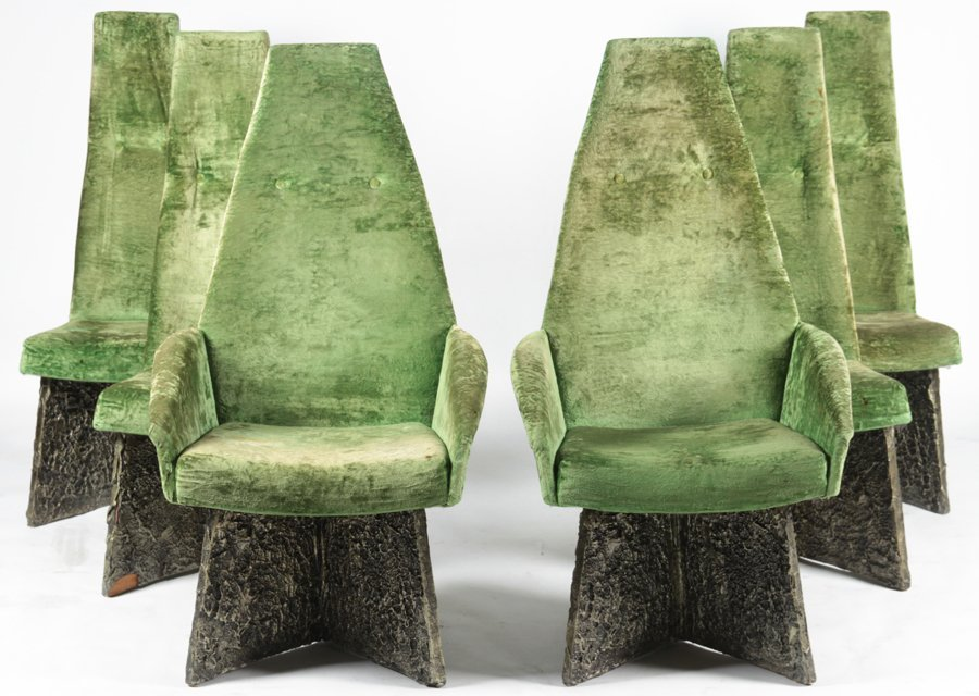 SET OF 6 ADRIAN PEARSALL DINING CHAIRS C.1970