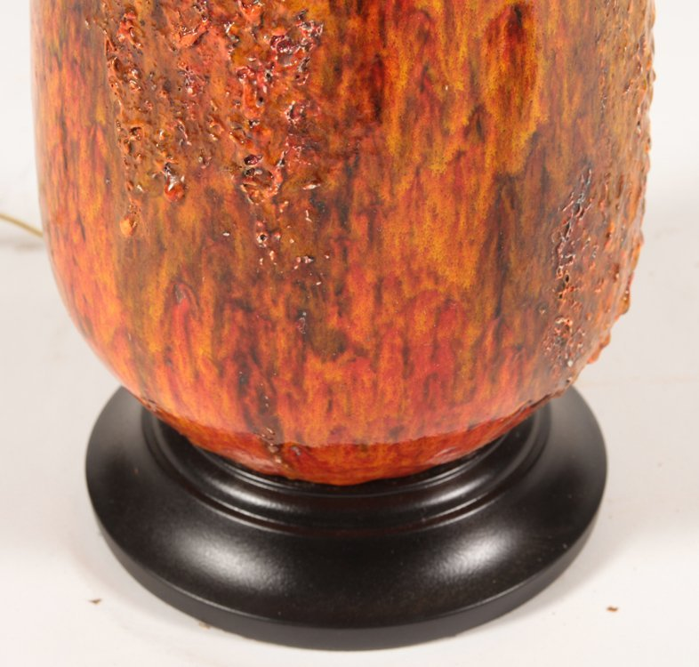 PAIR OF MID CENTURY MODERN CERAMIC TABLE LAMPS - 5