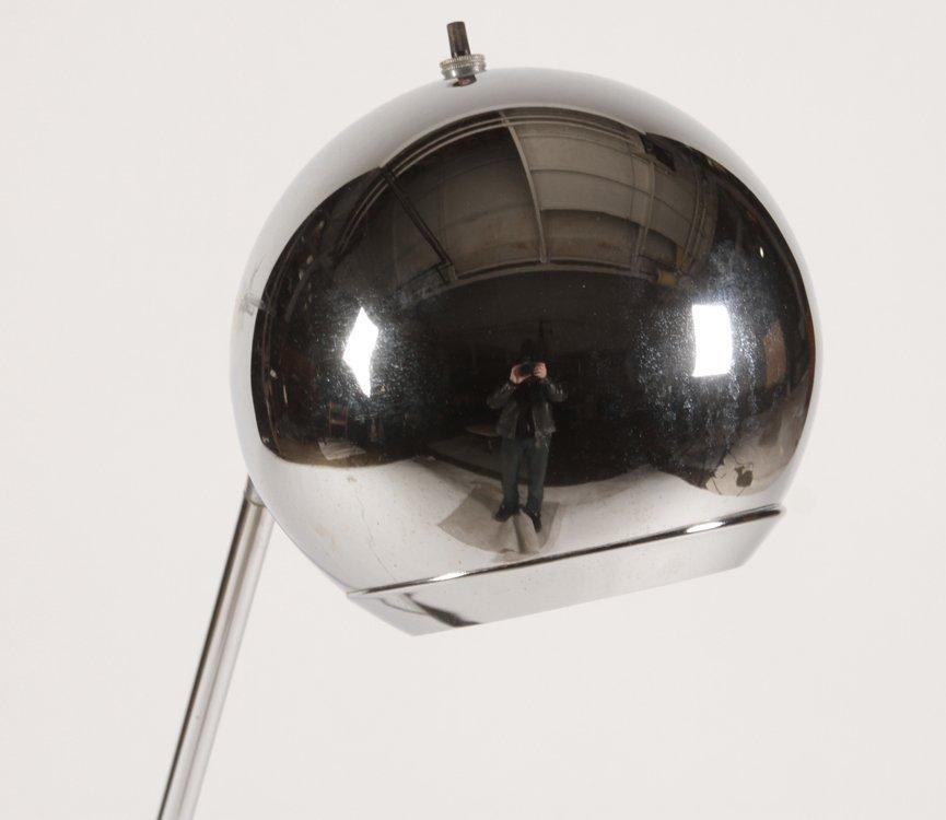 ROBERT SONNEMAN CHROME FLOOR LAMP C.1960 - 2