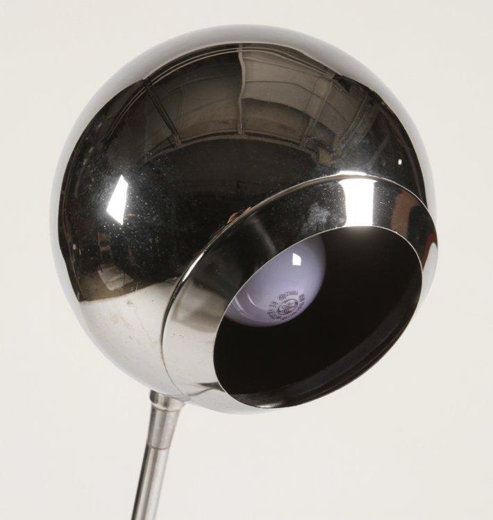 ROBERT SONNEMAN CHROME FLOOR LAMP C.1960 - 3