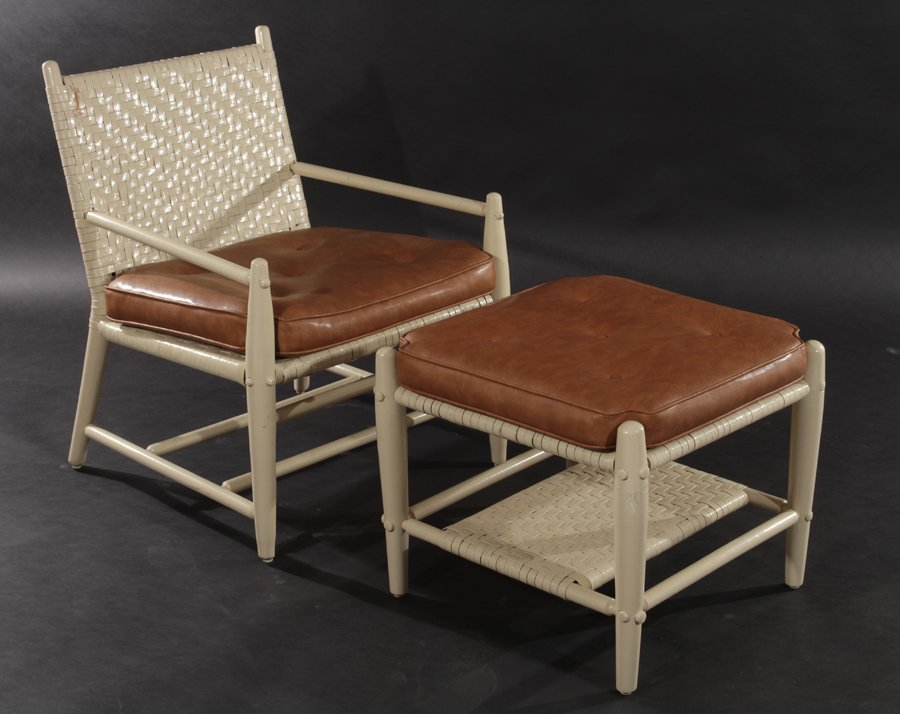 2 MODERNIST ADIRONDACK CHAIRS AND 2 OTTOMANS - 2