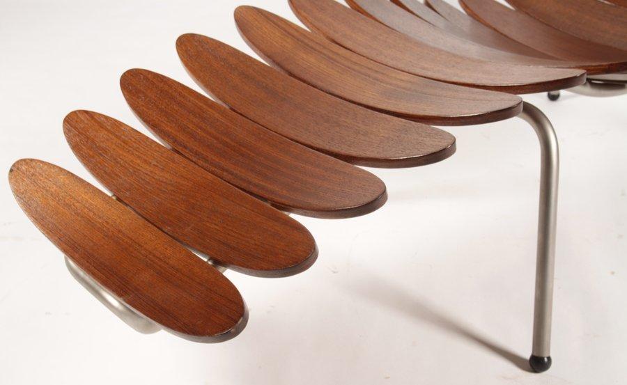 INTERESTING TEAK SURFBOARD LOUNGE CHAIR - 5