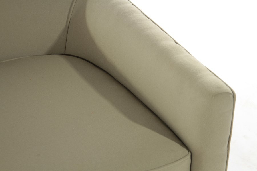 PAIR VINTAGE MACY'S UPHOLSTERED CLUB CHAIRS - 4