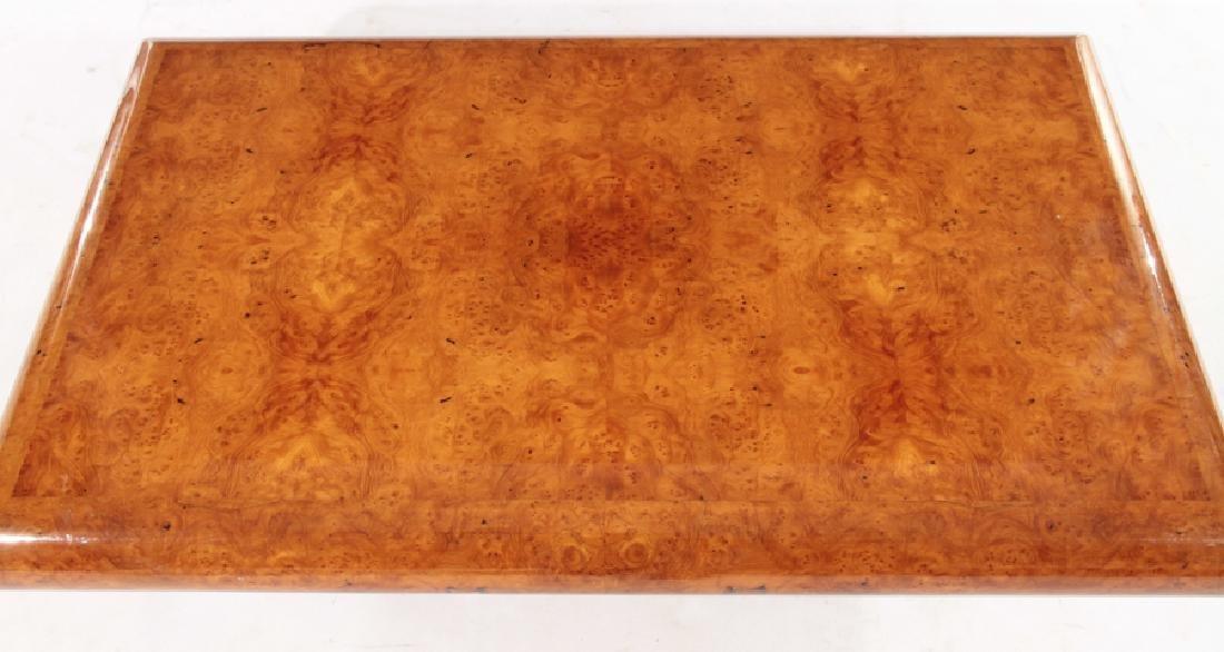 FRENCH BURL WOOD COFFEE TABLE PLINTH BASE 1980 - 3