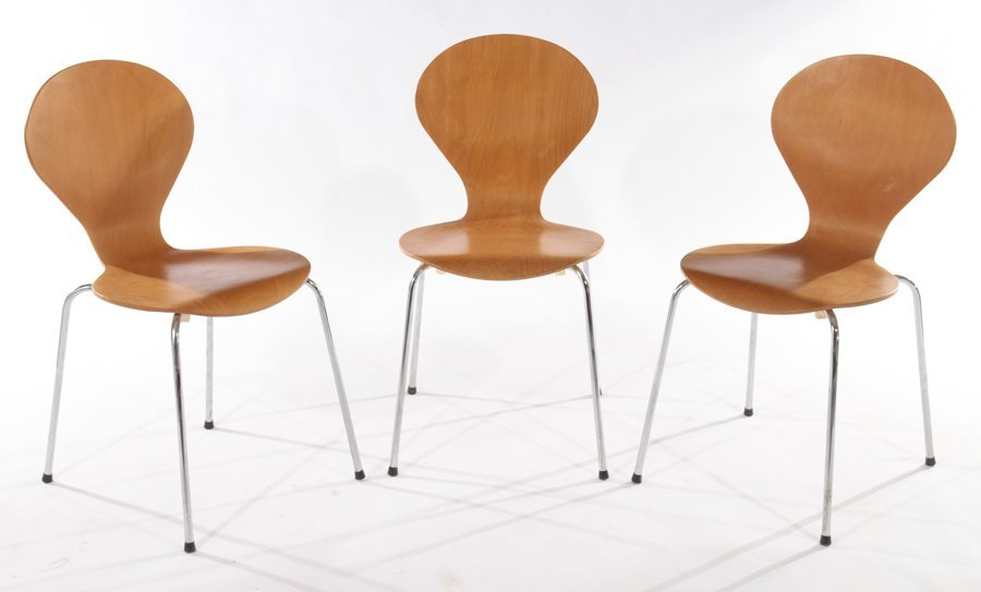 PAIR OF DANISH SIDE CHAIRS BY PHOENIX